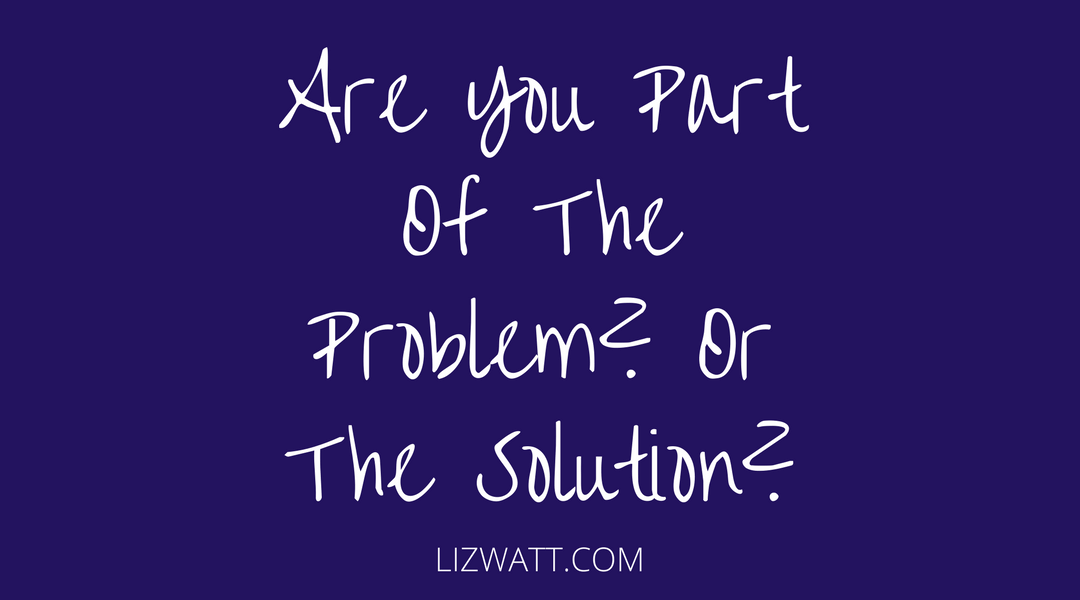 Are You Part Of The Problem? Or The Solution?