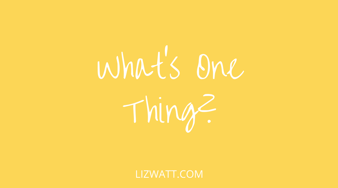 What's One Thing?