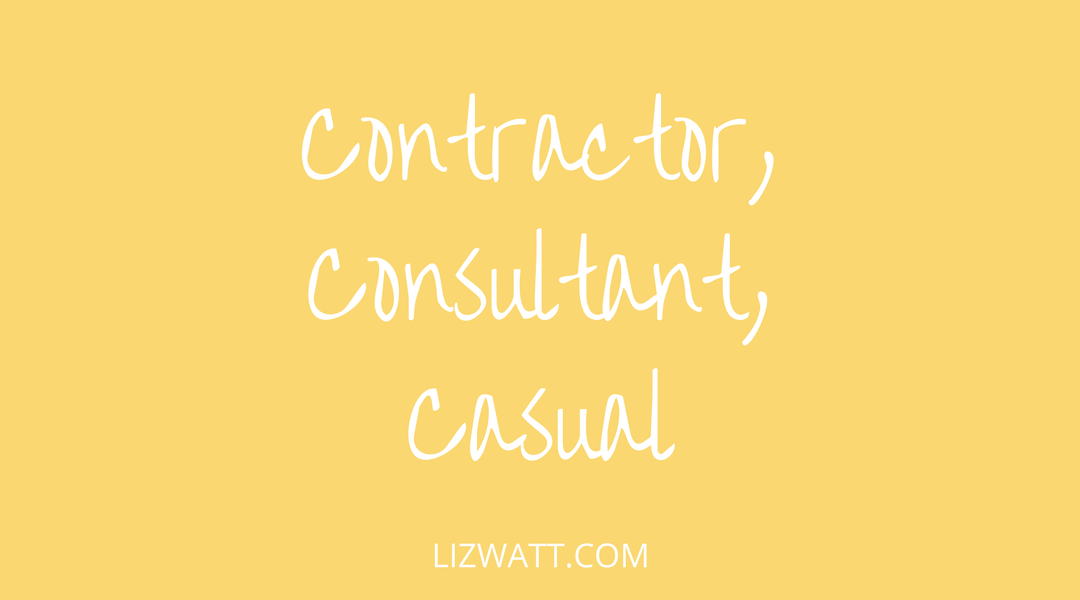 Contractor, Consultant, Casual