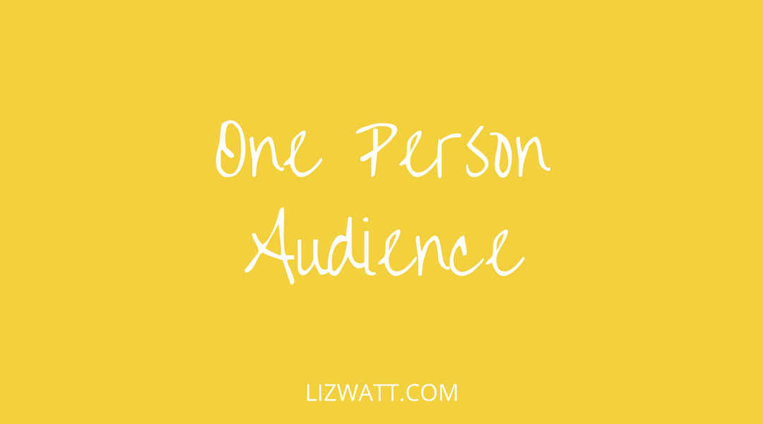 One Person Audience