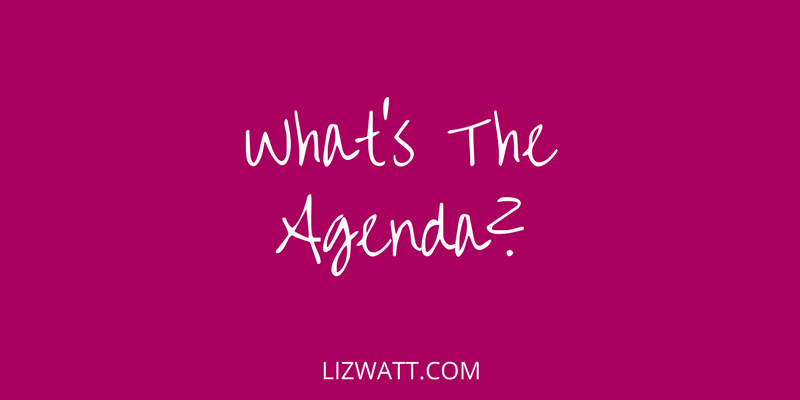 What's The Agenda?