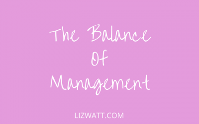 The Balance Of Management