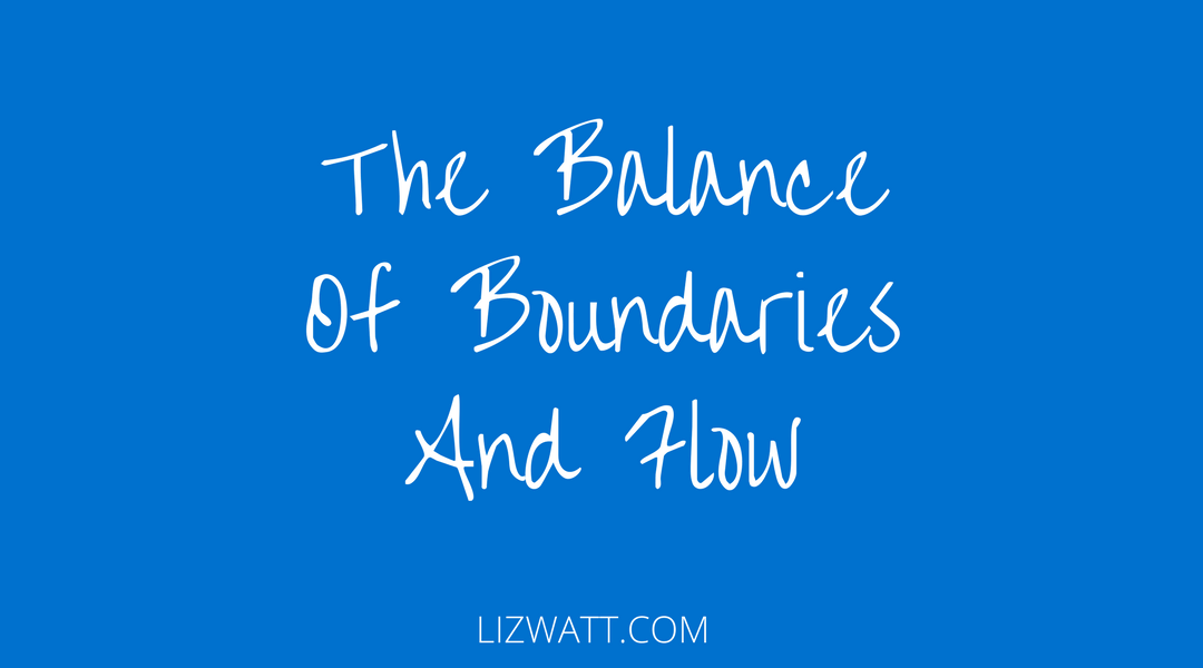 The Balance Of Boundaries And Flow