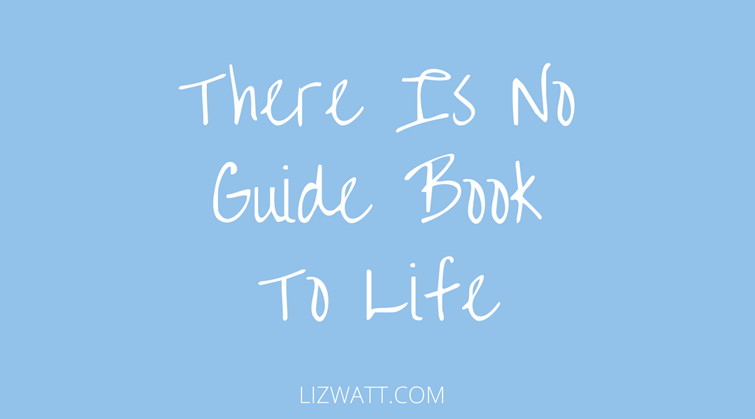 There Is No Guide Book To Life