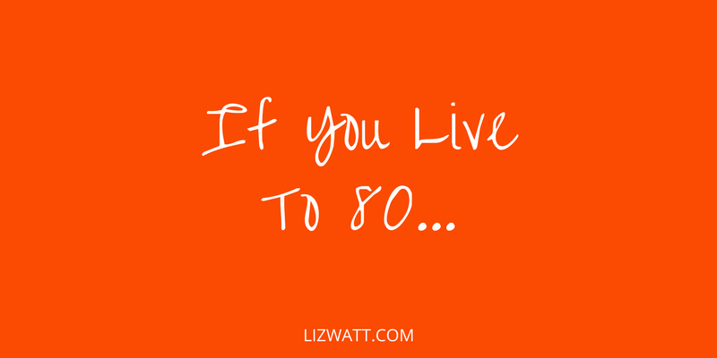 If You Live To 80…