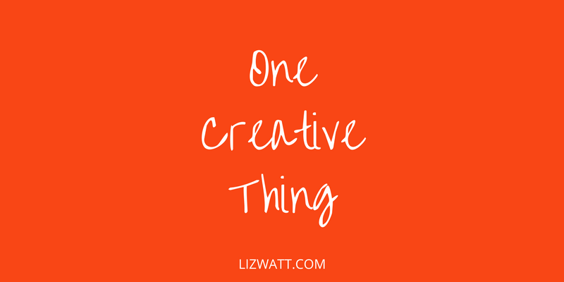 One Creative Thing