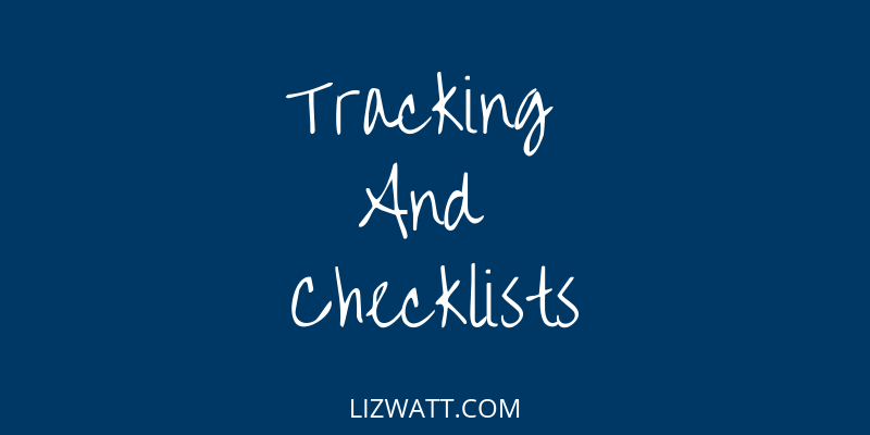 Tracking And Checklists