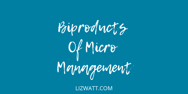 Biproducts Of Micro Management